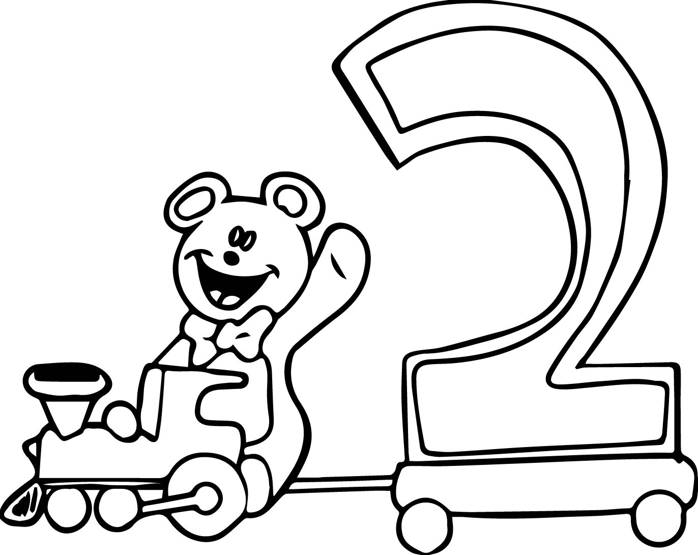 Number 2 coloring pages - Number Coloring Pages