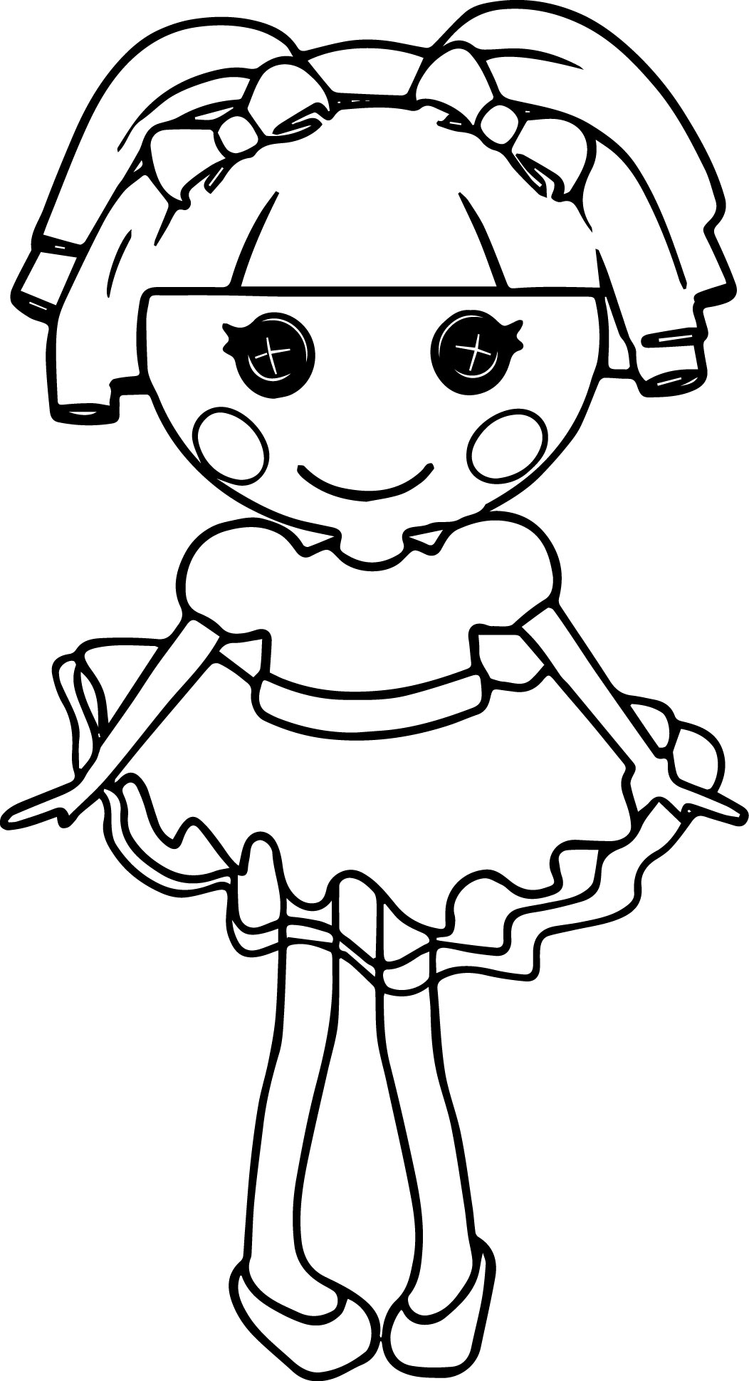 Lalaloopsy Cartoon Coloring Pages