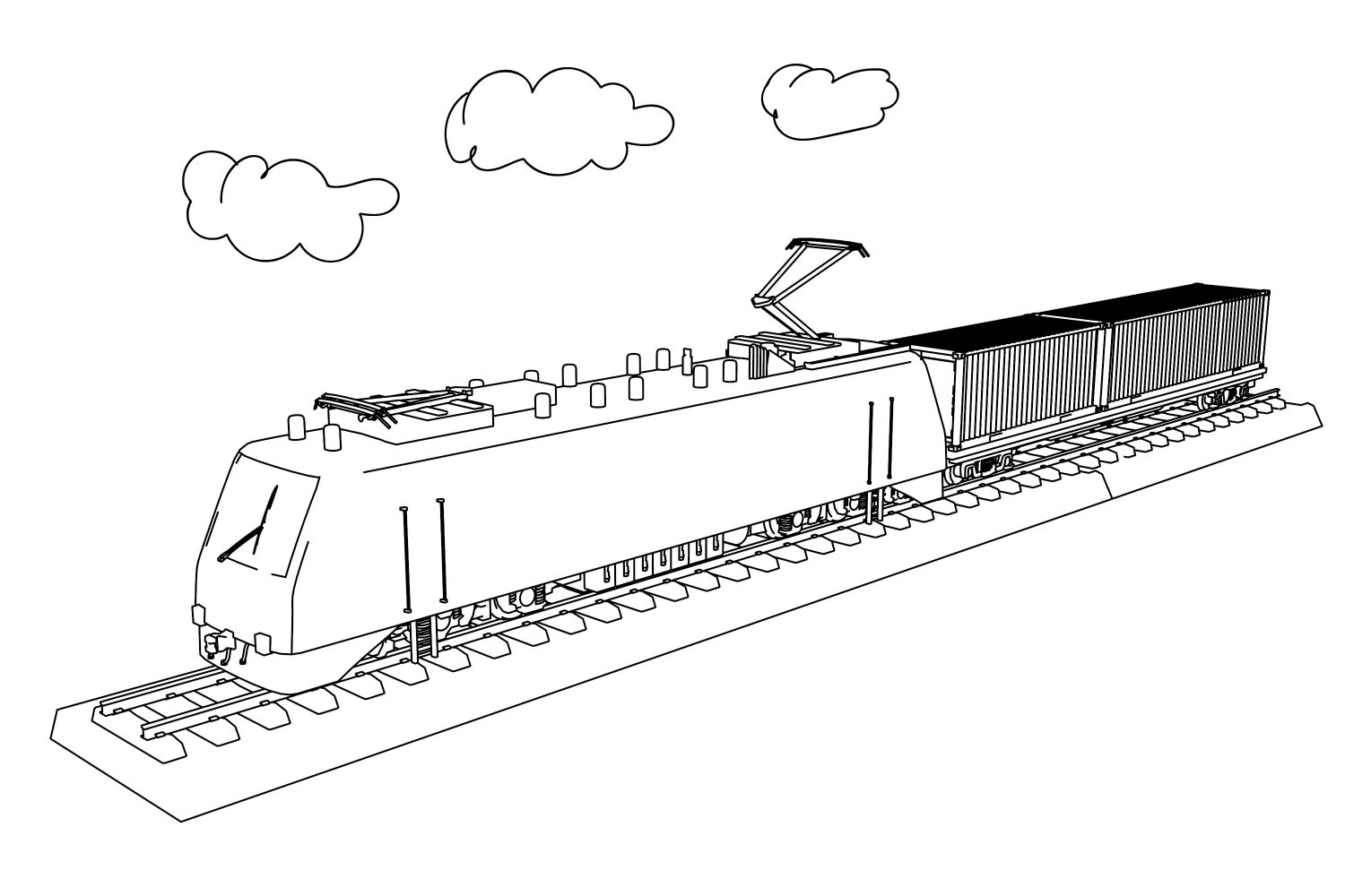 Train Coloring Pages  Wecoloringpage