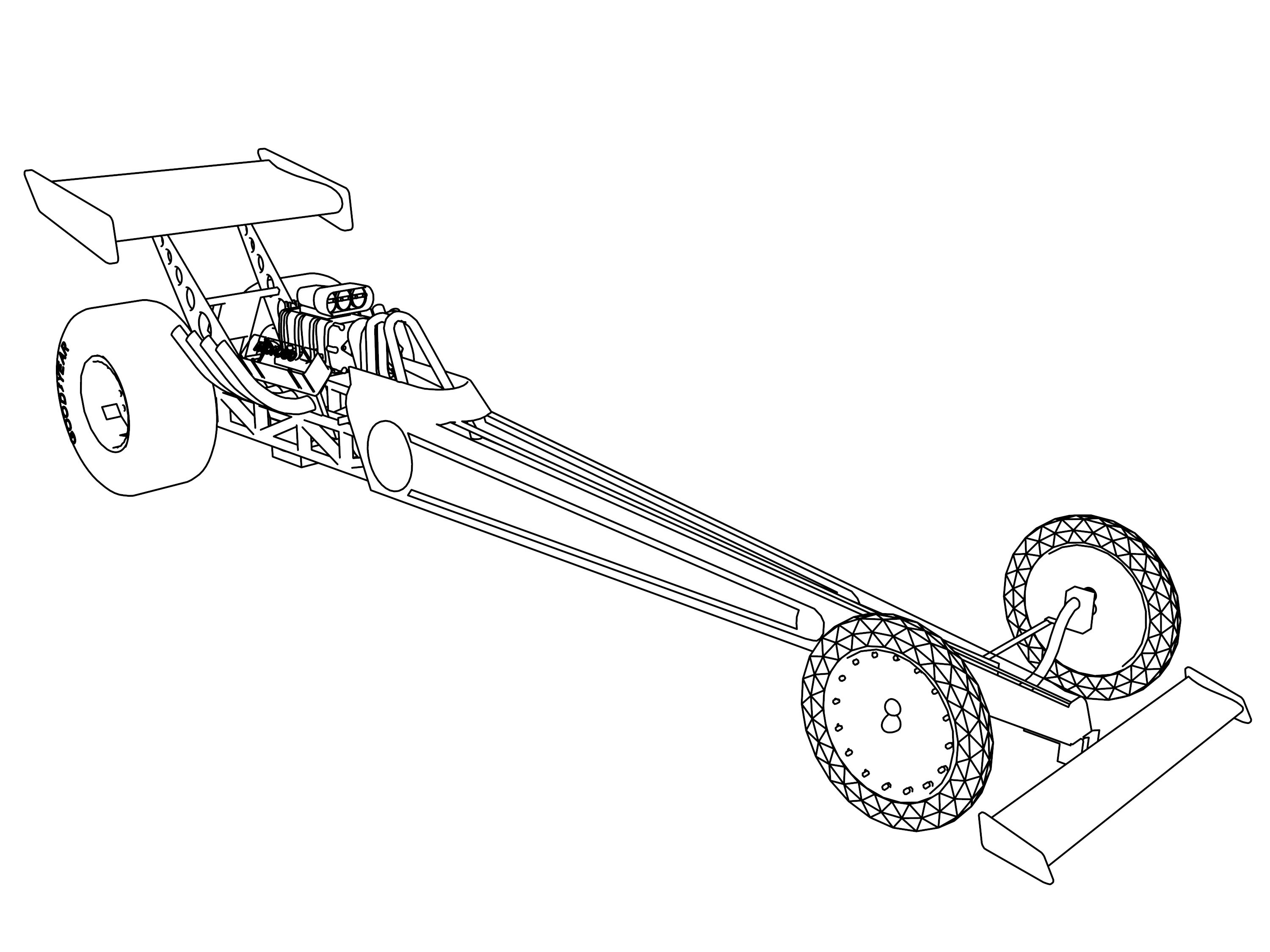 Coloring pages 4 wheeler - Formula And Race Car Coloring Pages