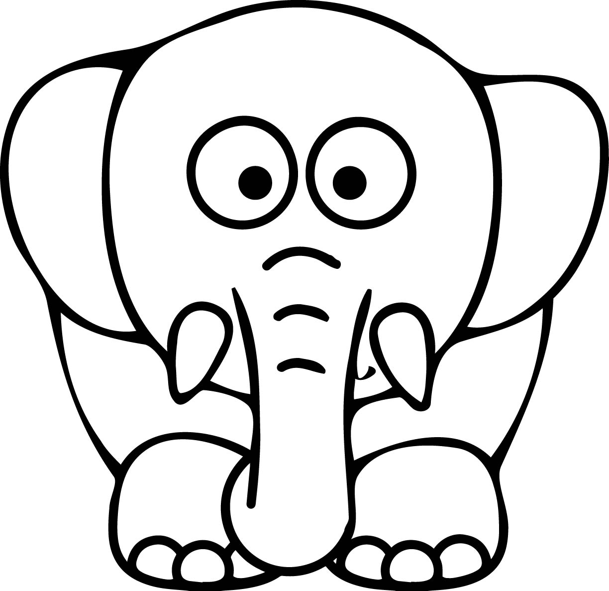 Coloring Pages Cartoon Elephant Coloring Pages elephant coloring pages wecoloringpage pages