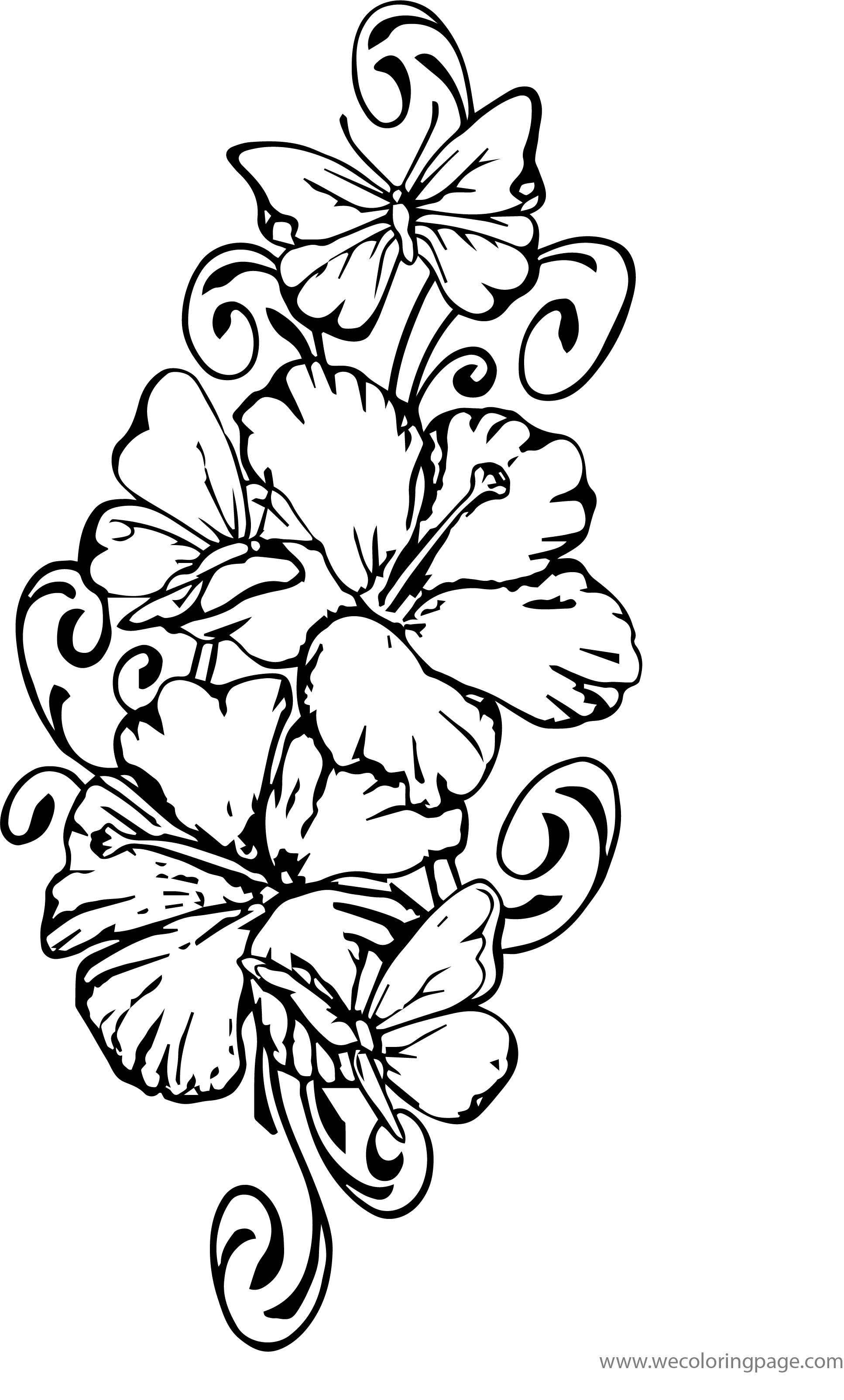 Butterfly And Leaves Beautiful Coloring Page By Karim