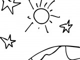Space stars sun world 1 own drawing coloring page