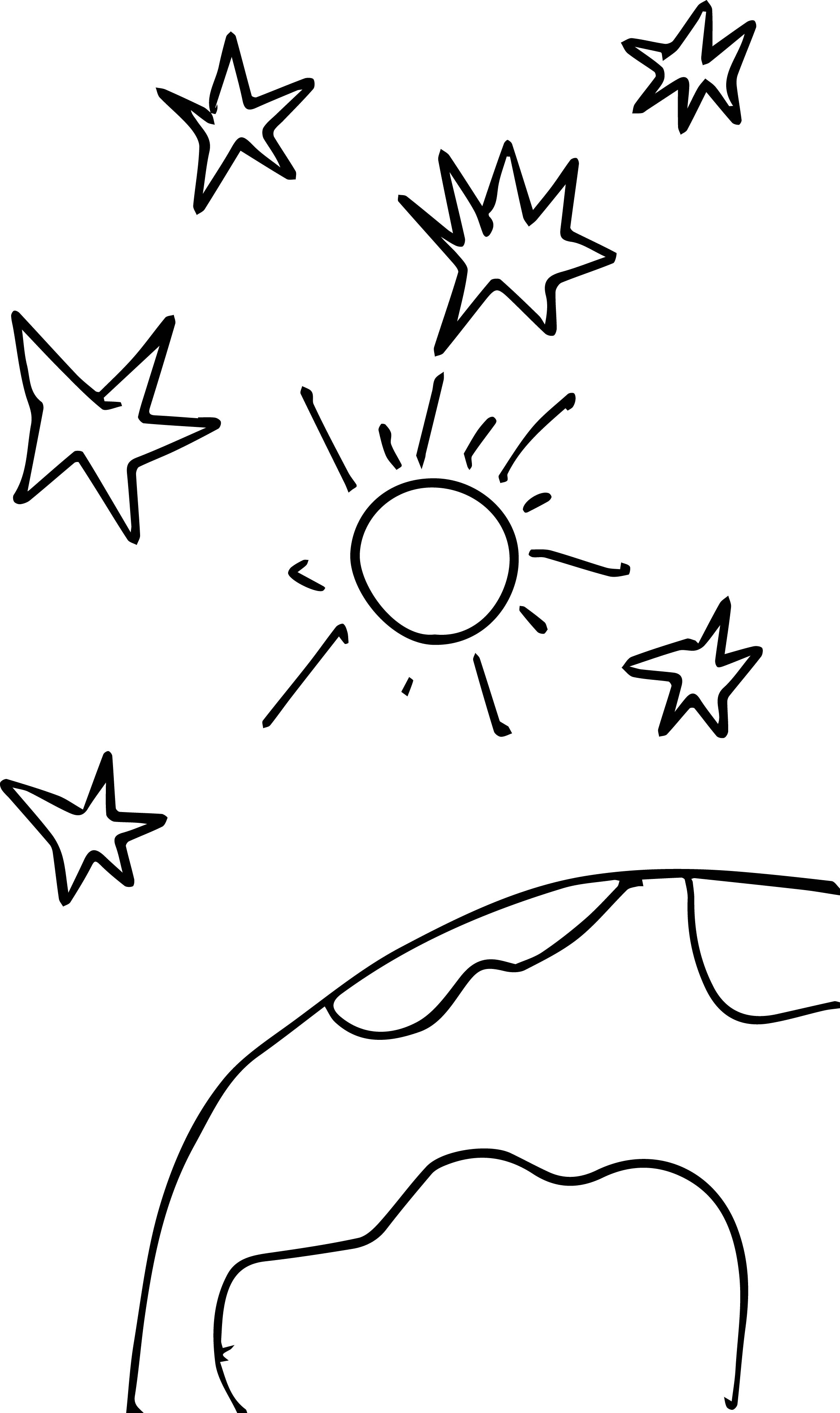 space stars sun world 1 own drawing coloring page wecoloringpage