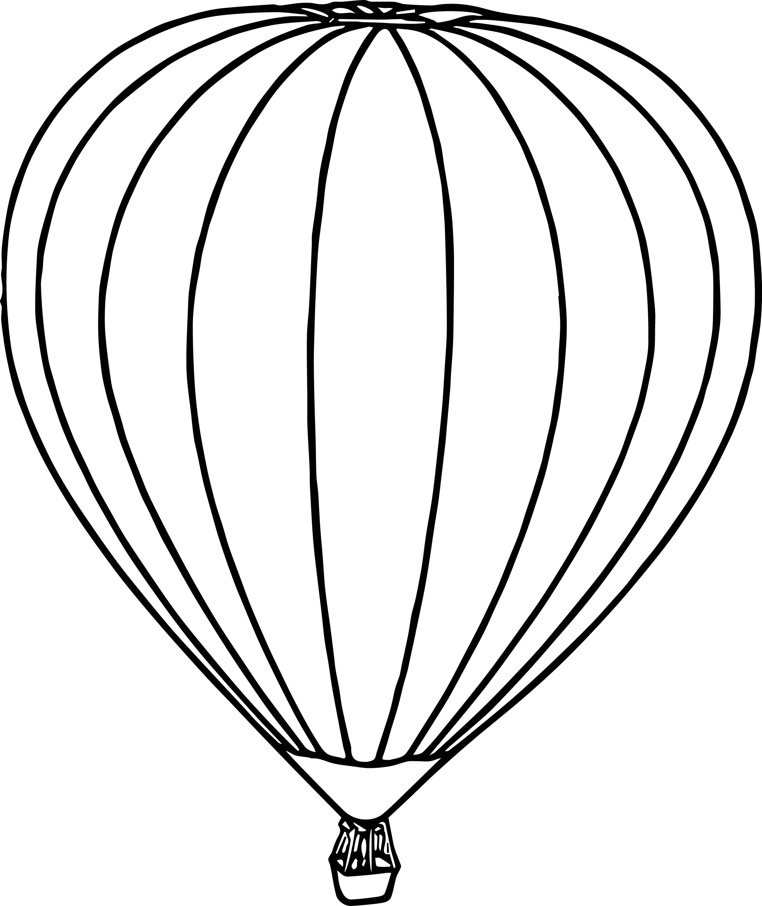 Air Balloon Coloring Pages