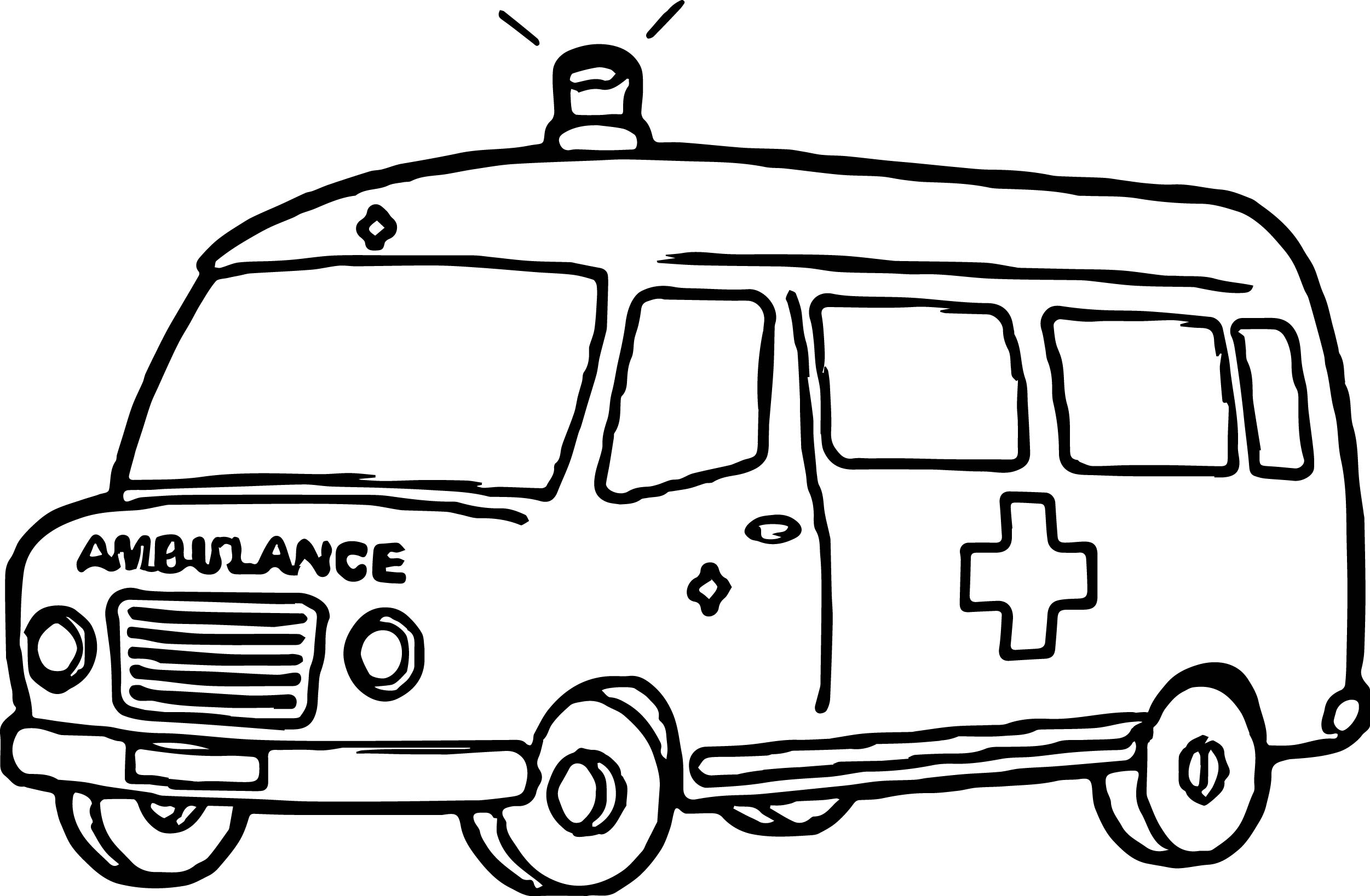 ambulance coloring page - Ambulance Coloring Pages Kids