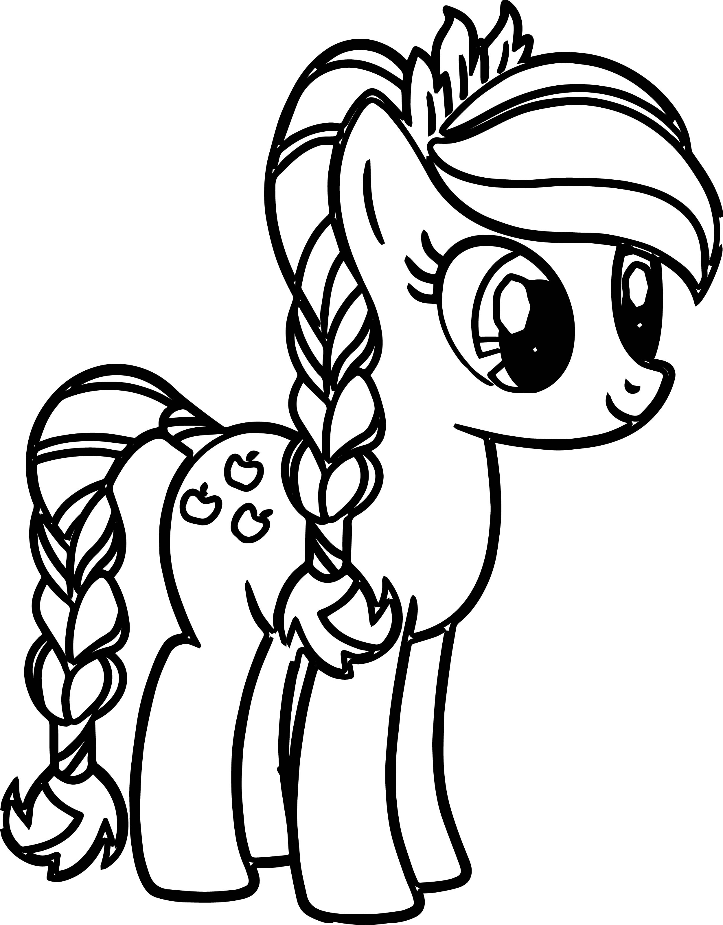 pony cartoon my little pony coloring pages - Pony Coloring Pages