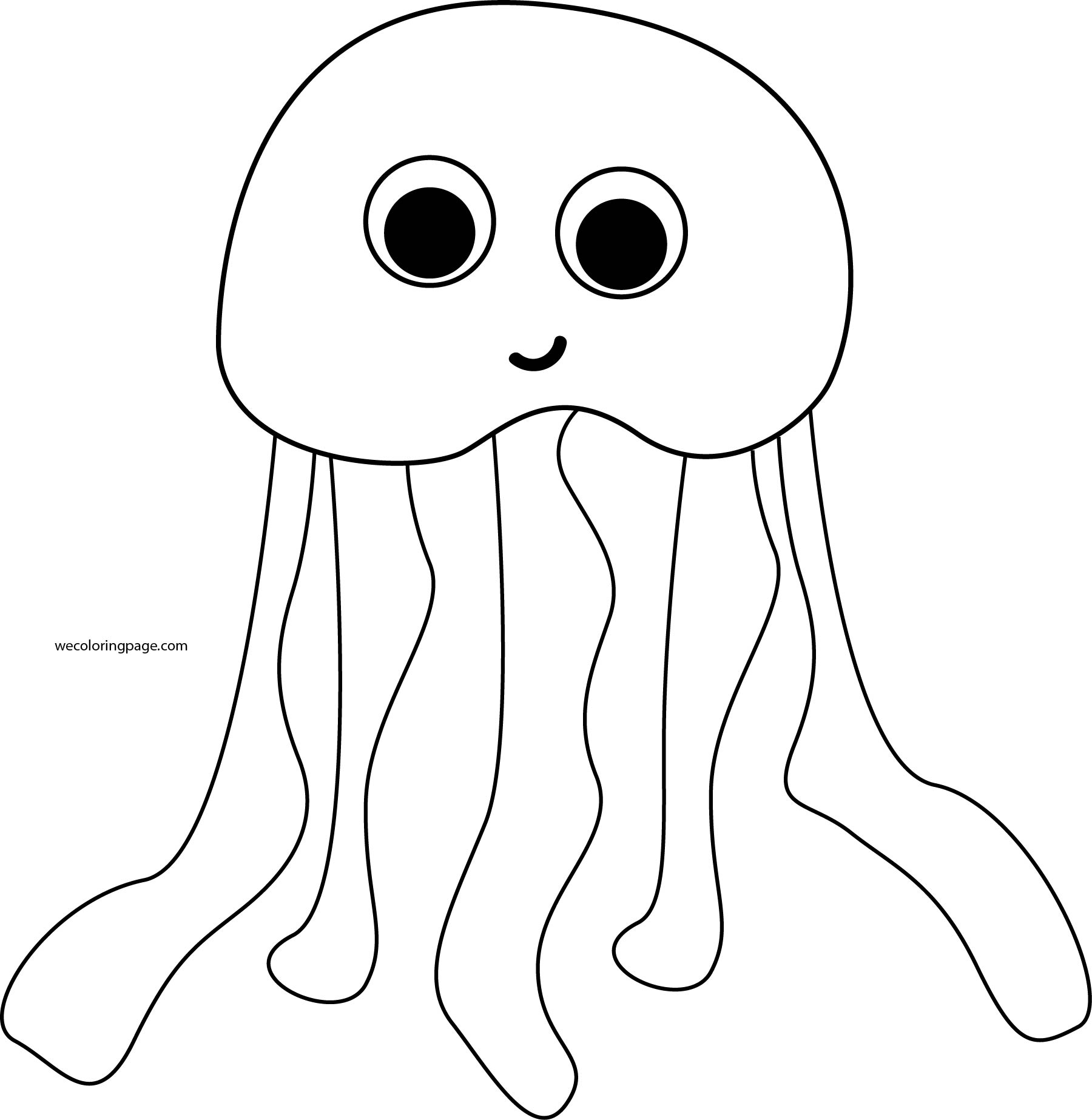 jellyfish coloring pages - Jellyfish Coloring Pages