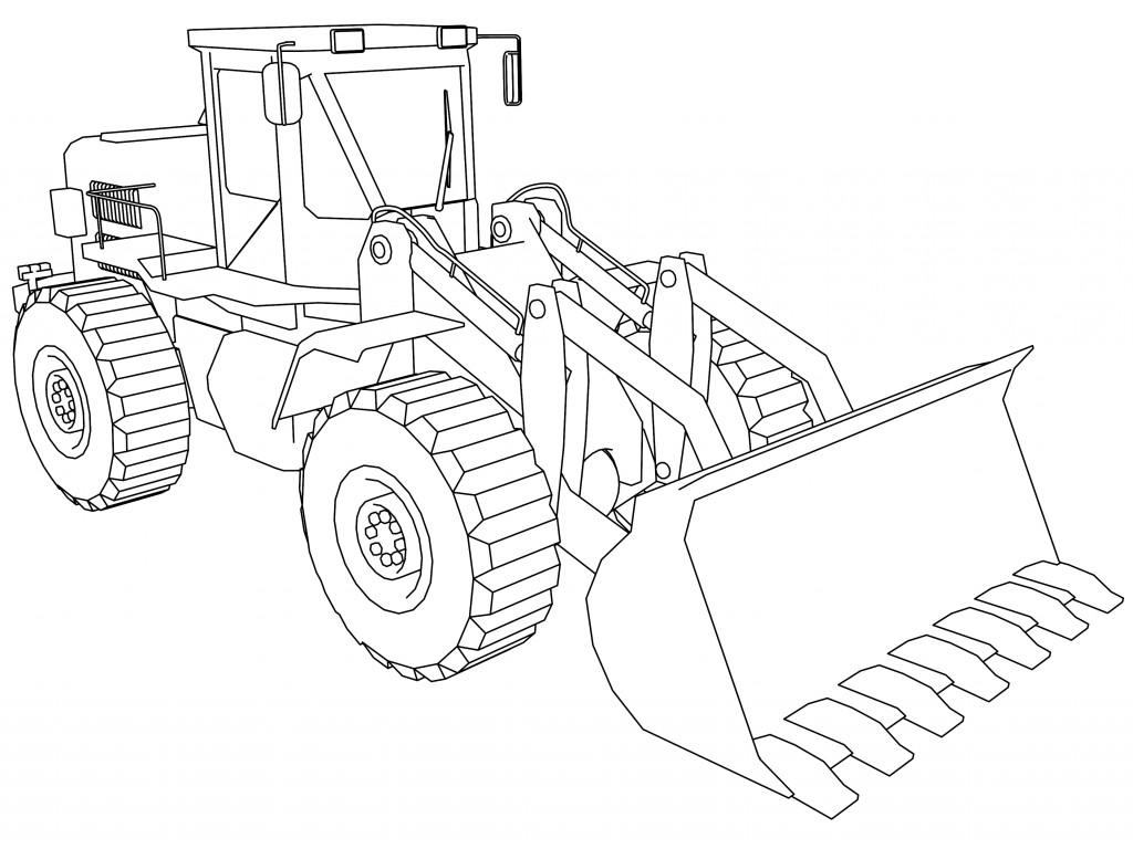bull dozer coloring pages-#12
