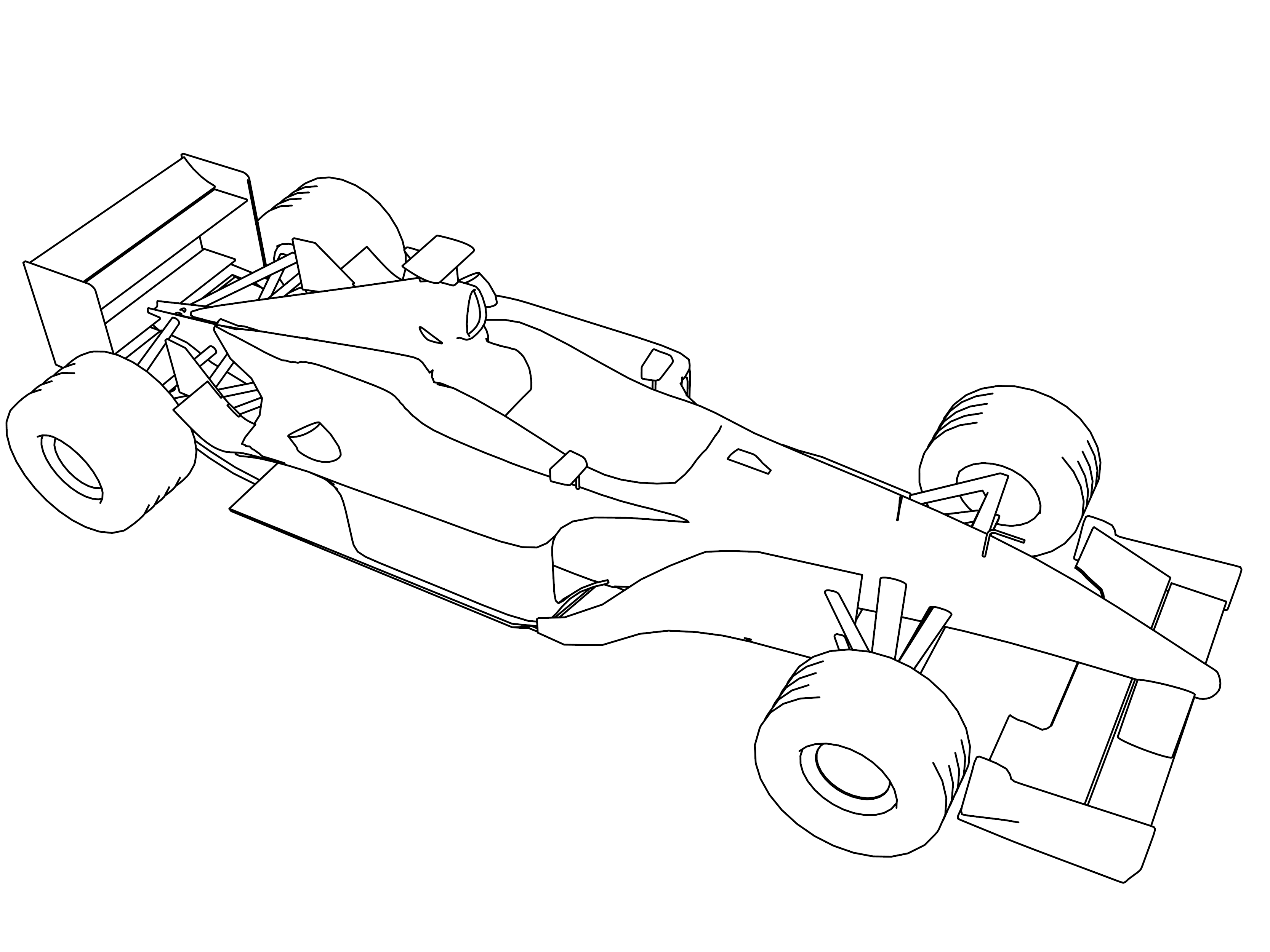 F1 Prost 2001 Formula Sport Car Coloring Page