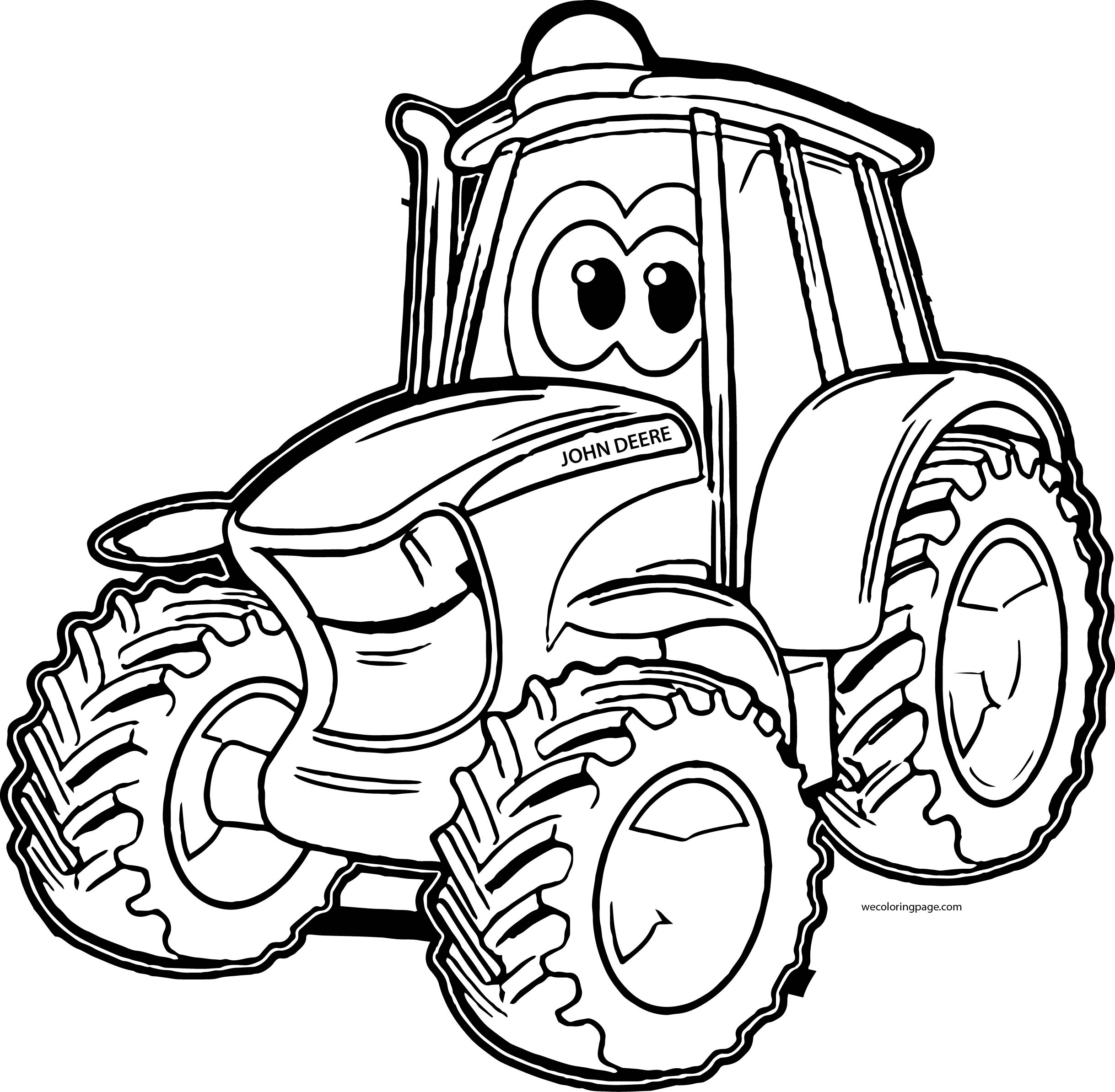 Toddler coloring pages of tractors - John Johnny Deere Tractor Coloring Pages