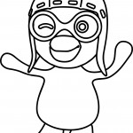 Pororo front coloring page