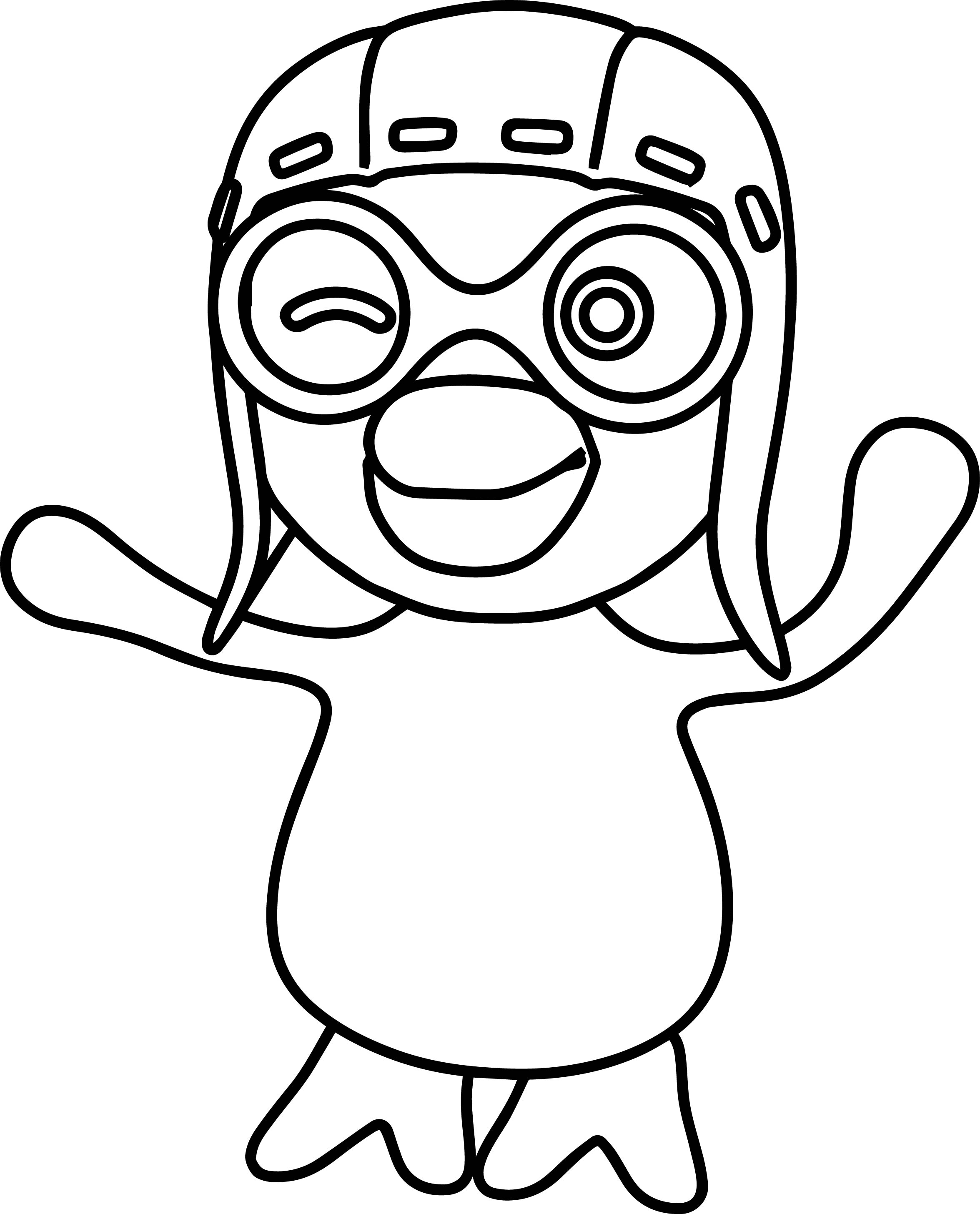 bold line coloring pages | Pororo Coloring Pages | Wecoloringpage.com
