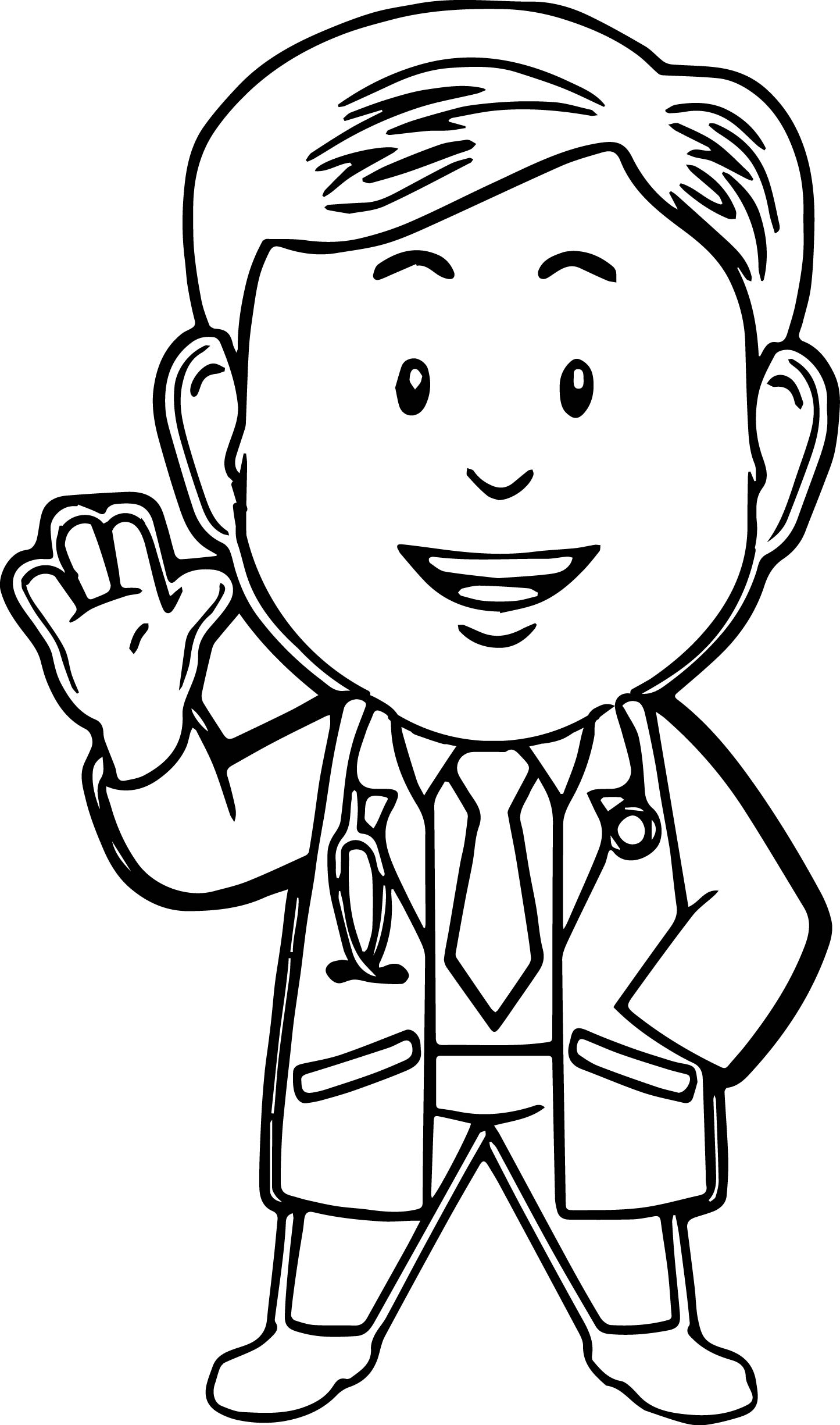 kid doctor coloring pages - photo#18