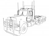 Long Trailer Truck TIR Coloring Pages