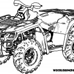 4 Wheeler Coloring Page