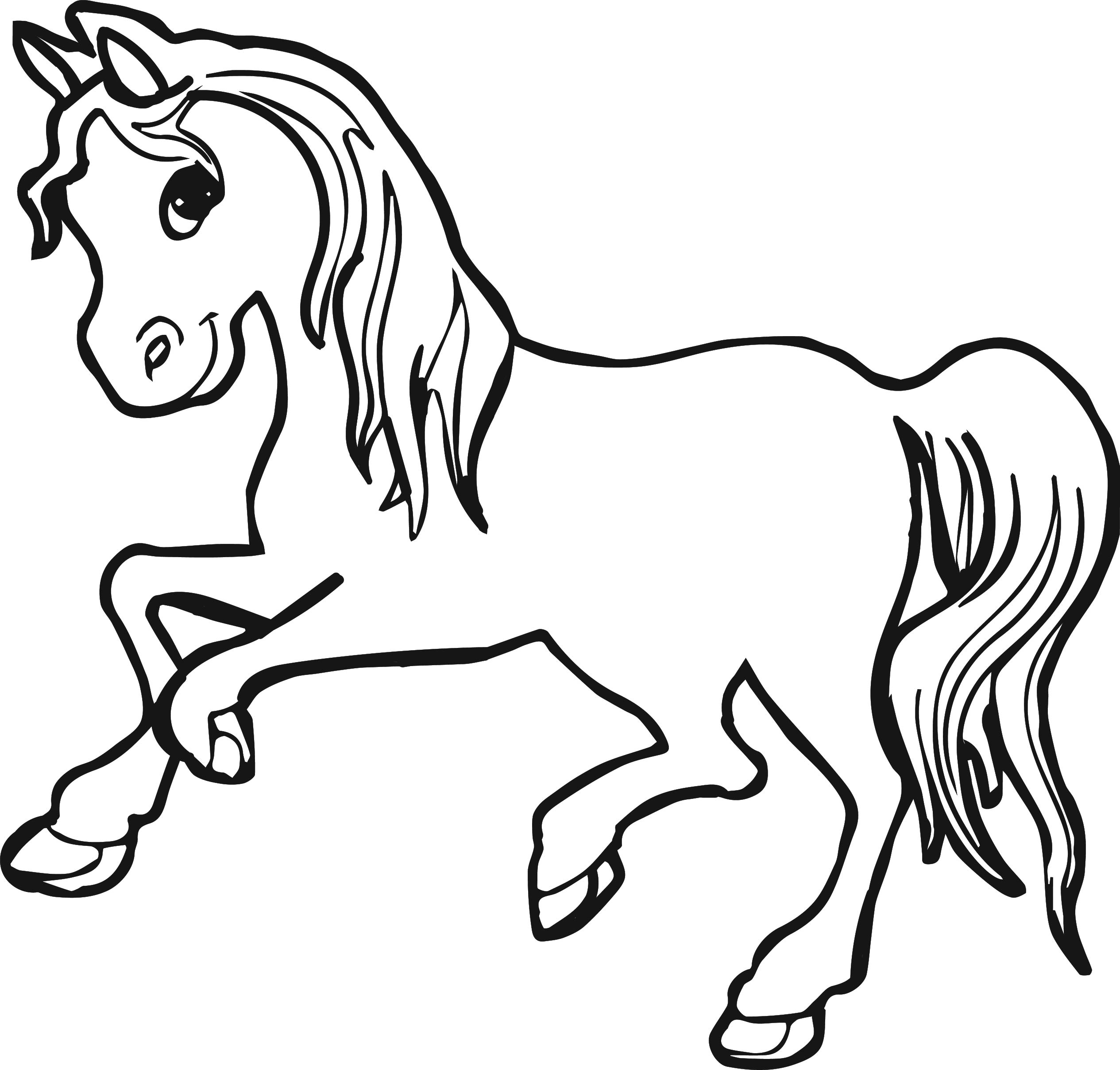 coloring page of a horse - horse coloring pages