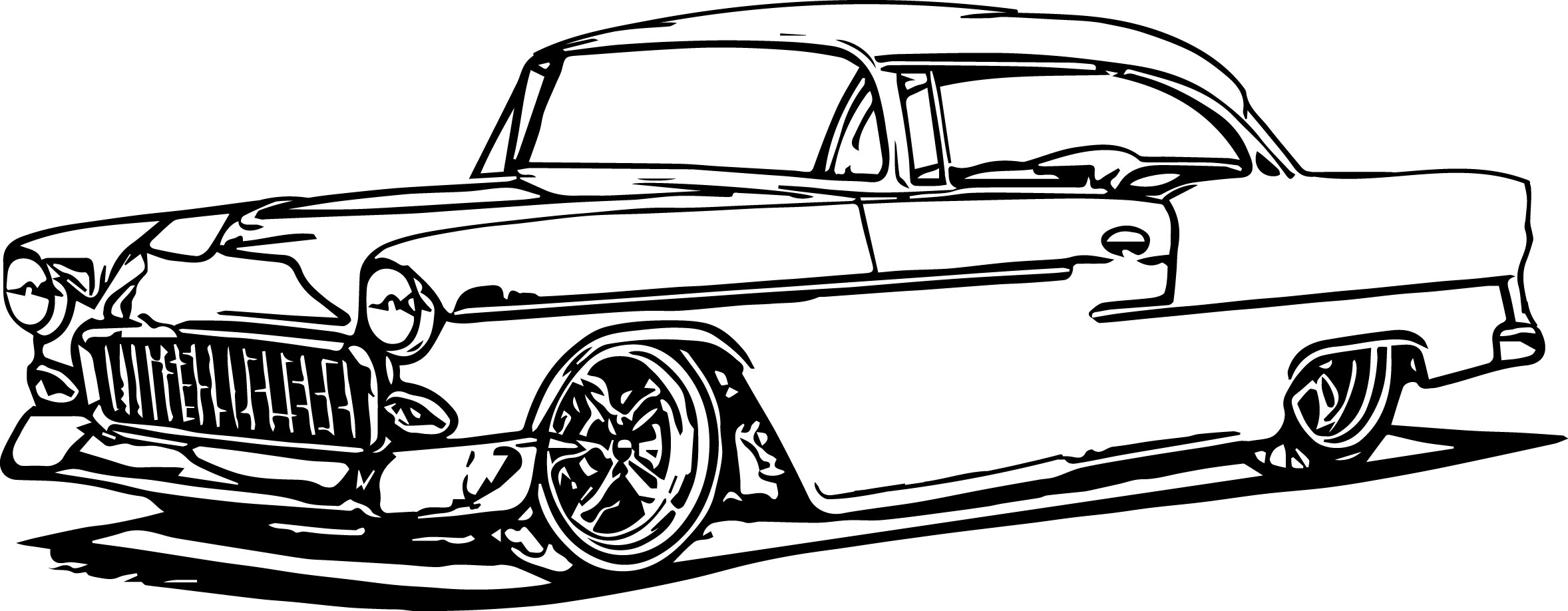Antique Car Coloring Pages | Wecoloringpage