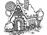 gingerbread house Coloring Page WeColoringPage 19