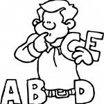 A B D E Letter Man Cartoon Coloring Page