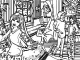 barbie a perfect christmas book illustraition 2 coloring page
