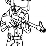 boom coloring on the beach character soldier rifleman coloring page