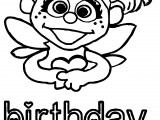 Abby Cadabby Girl Birthday Coloring Page