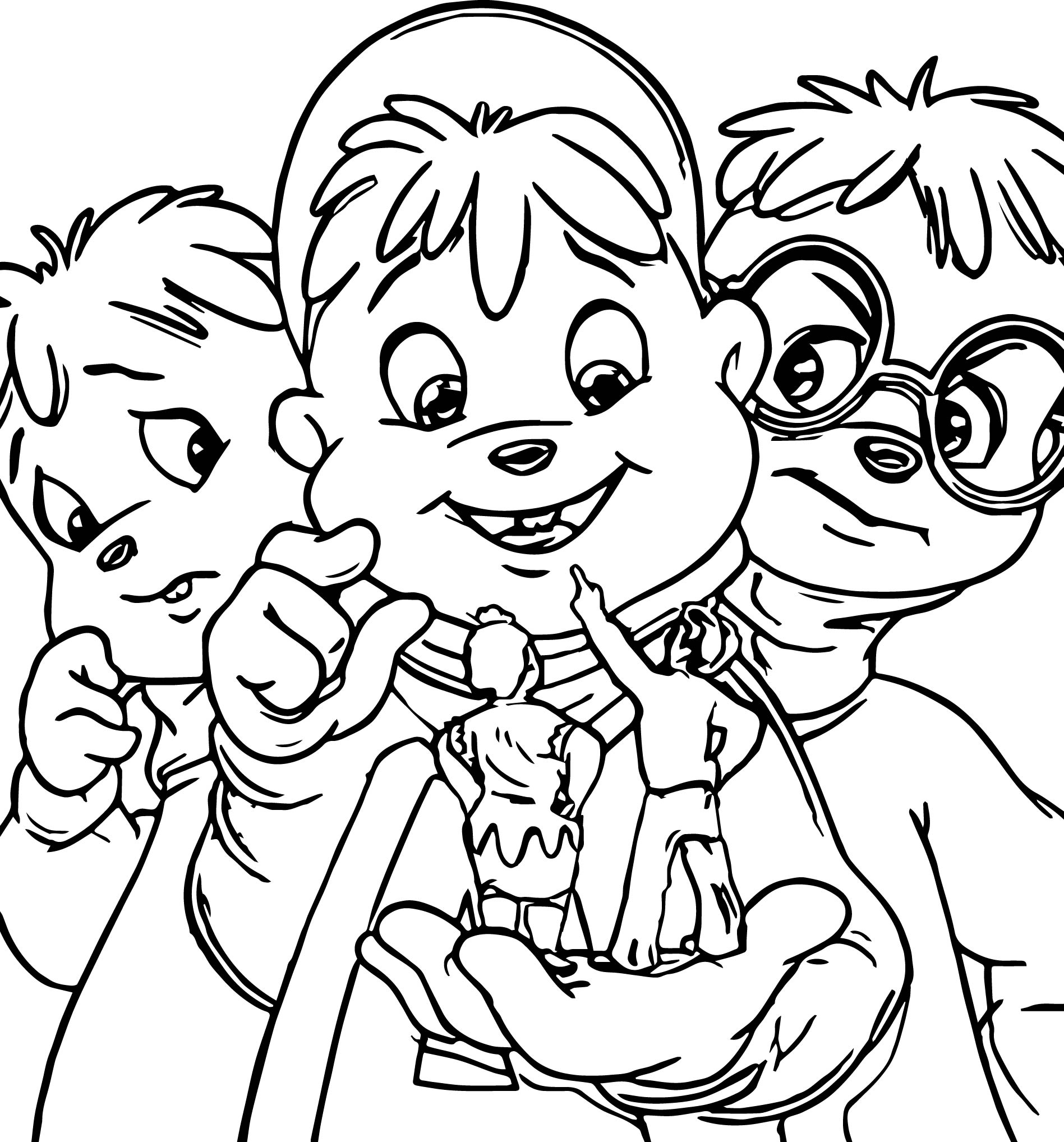 Alvin and chipmunks coloring pages for Chipmunks coloring pages