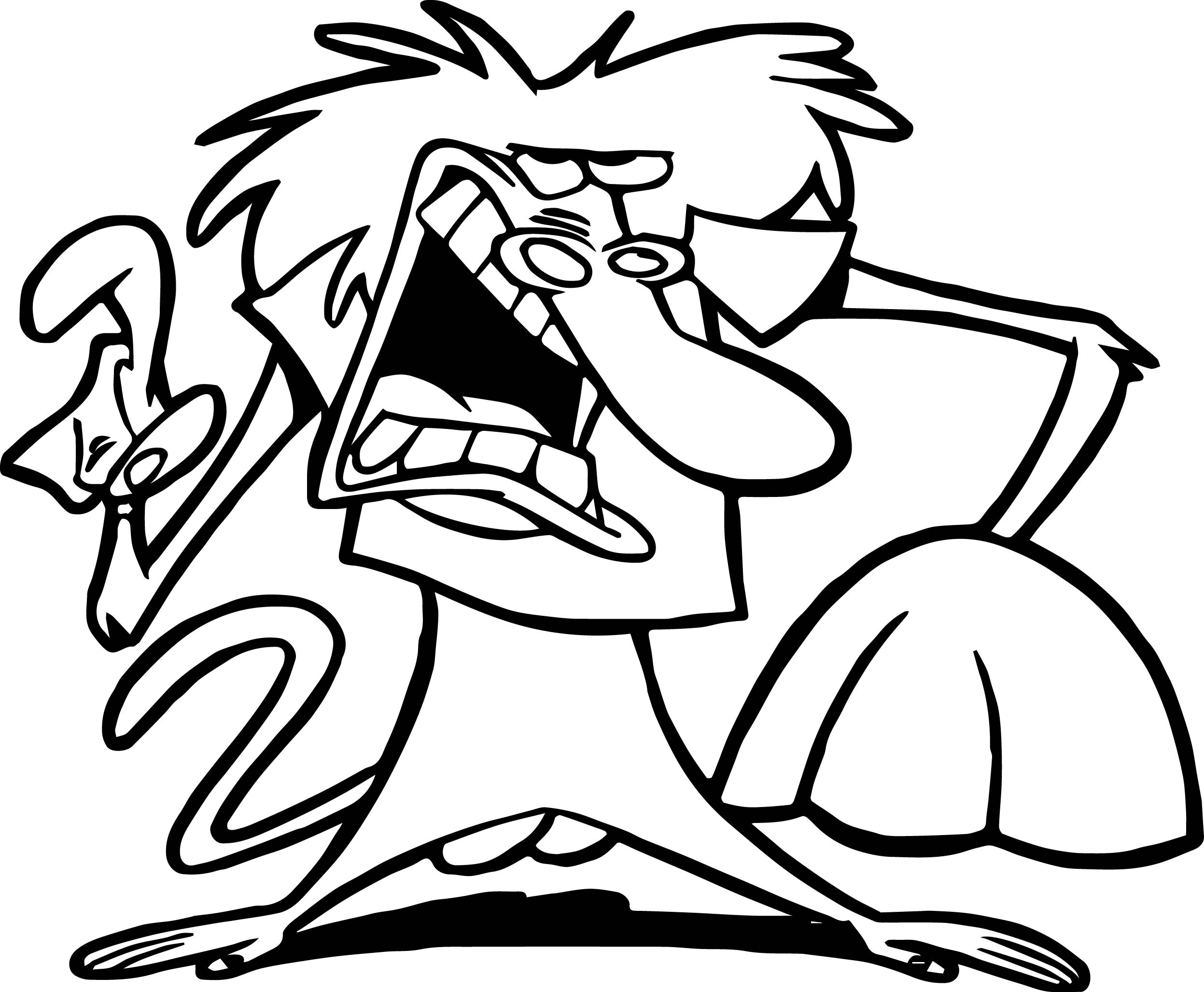 baboon coloring pages wecoloringpage