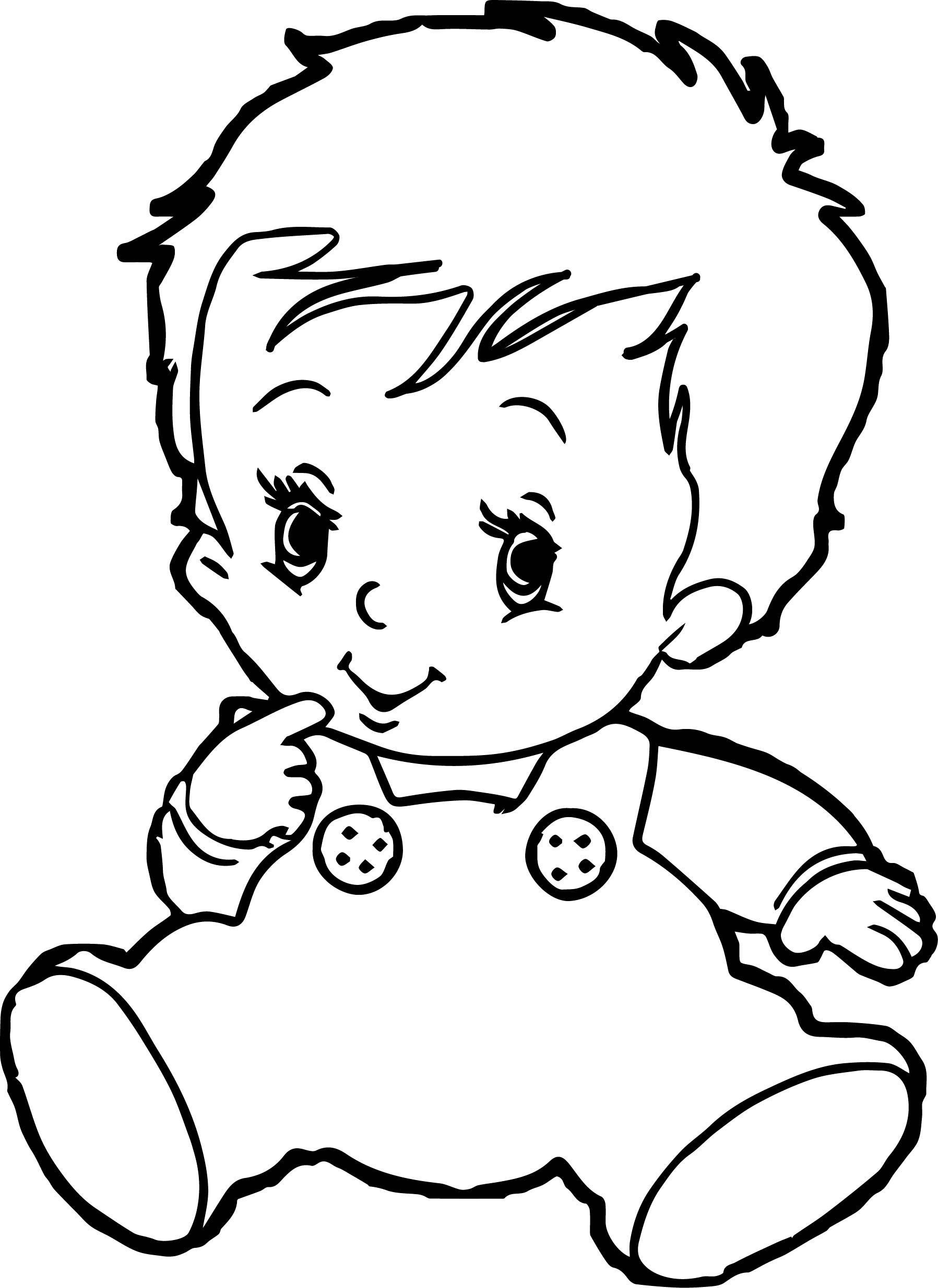 Baby boy coloring pages for Coloring pages girl and boy