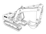 excavator coloring page 05