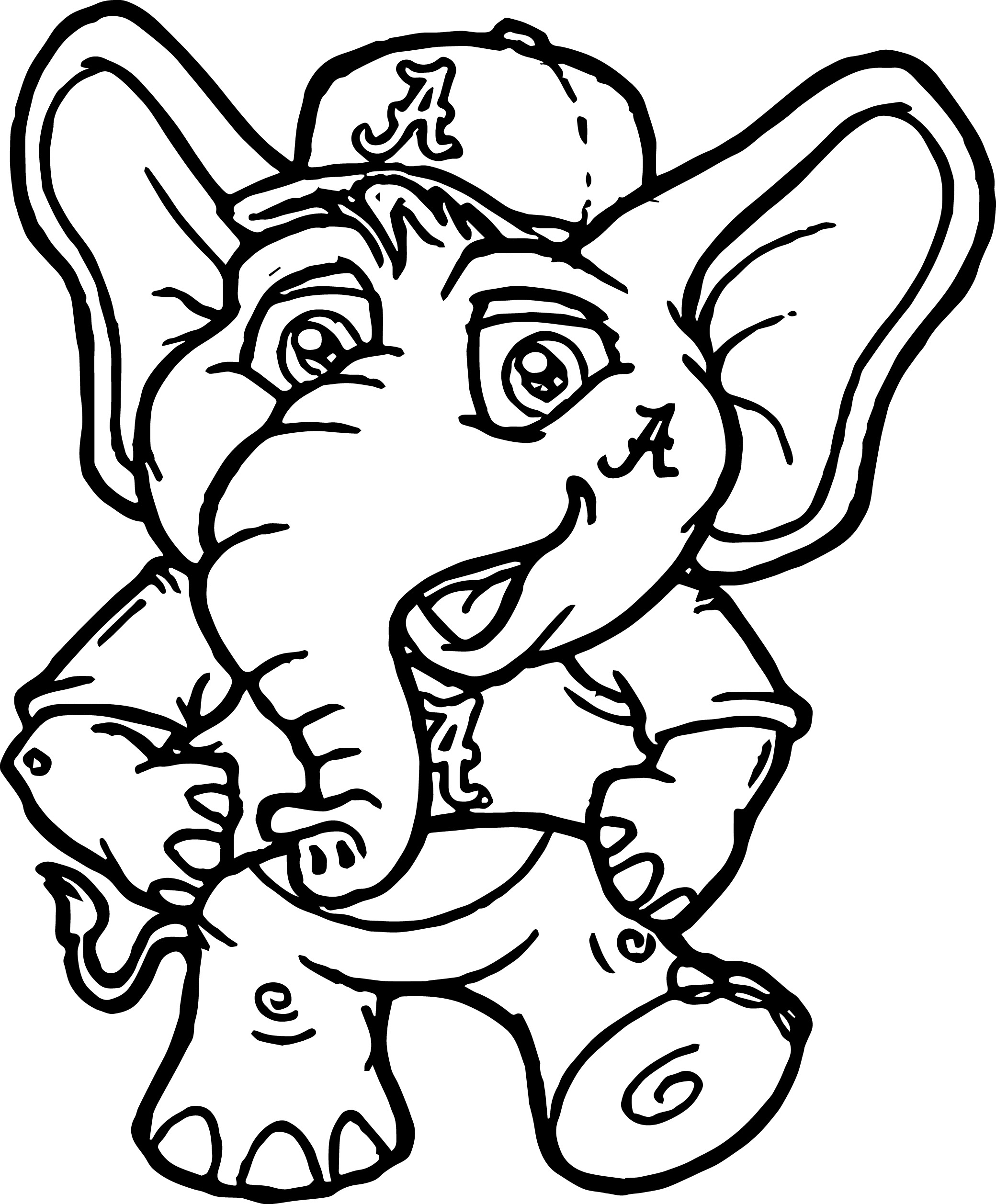 alabama football coloring pages - Coloring Page Elephant Design