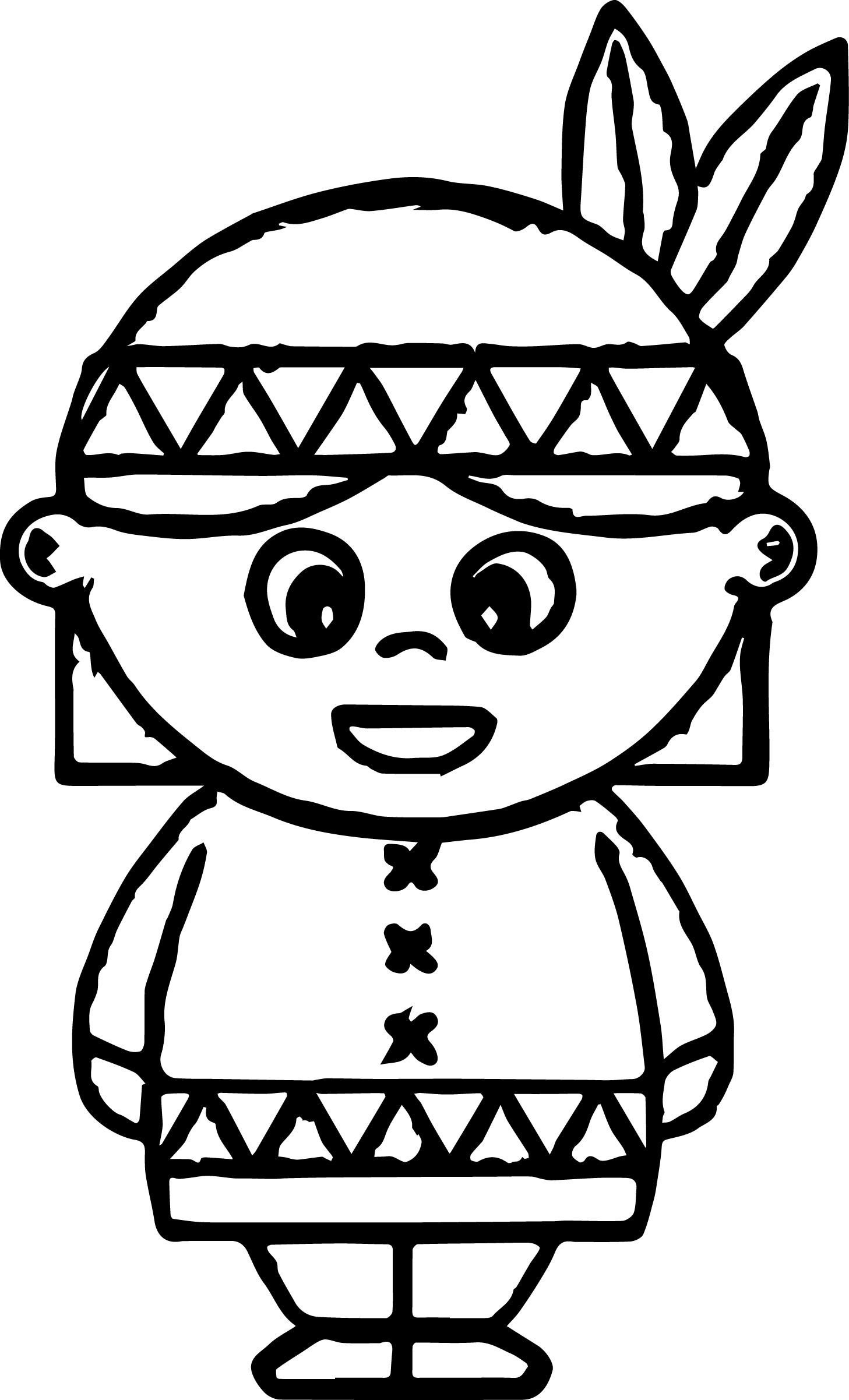American Indian Coloring Pages | Wecoloringpage