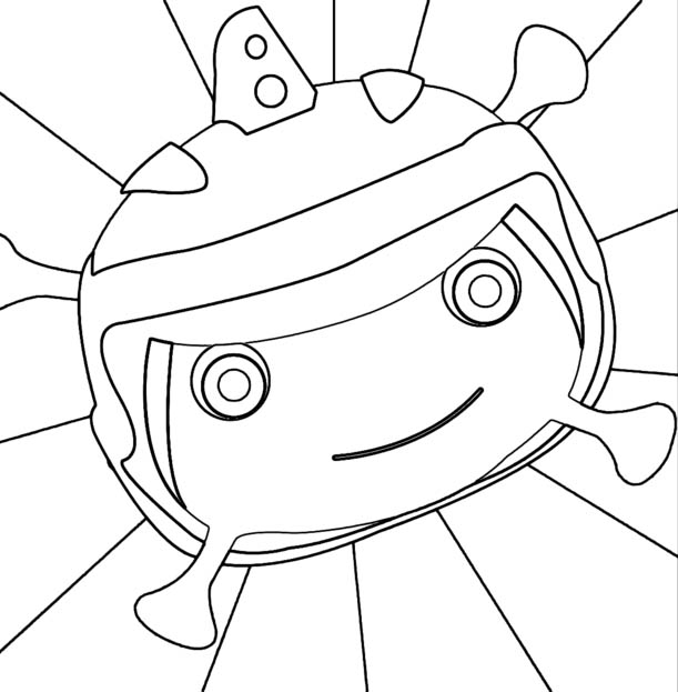Floogals Face Coloring Page