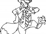 zootopia nick wilde dancing coloring page