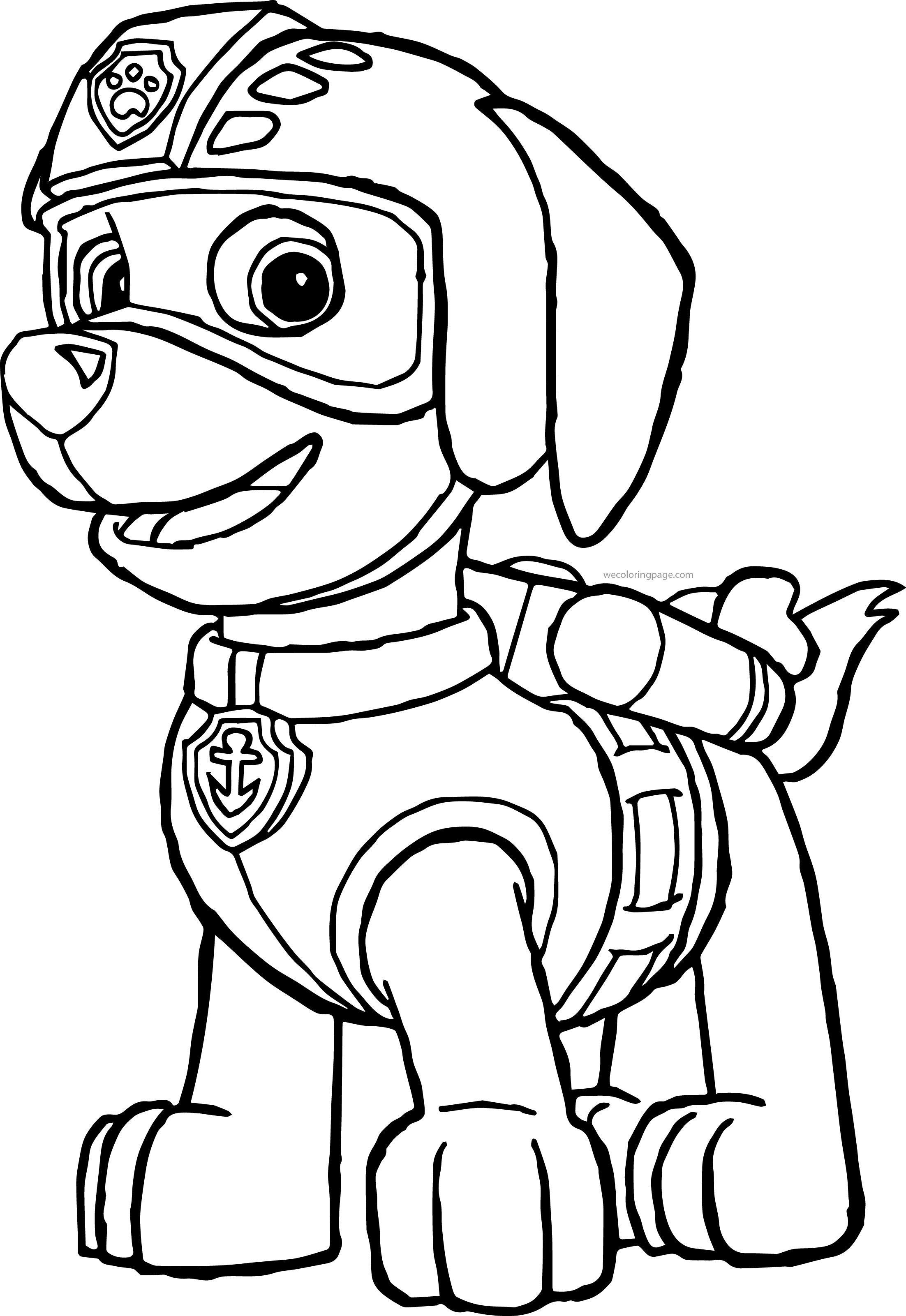 Paw patrol coloring pages robo dog - Paw Patrol Coloring Pages