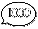 1000 Text Balloon Coloring Page