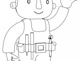 Bob The Builder To Wave One's Hand Coloring Page 2