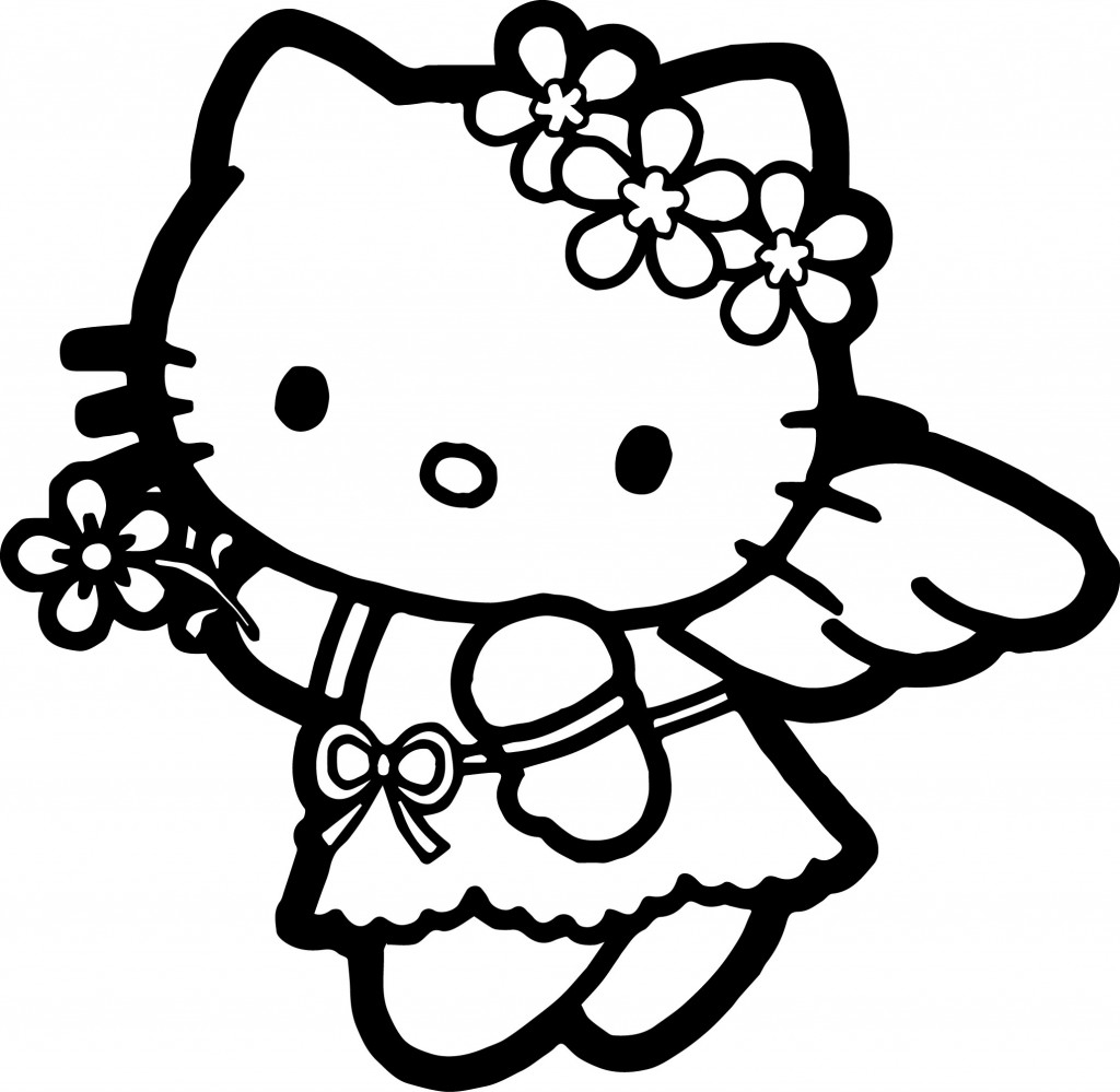 Hello Kitty Coloring Page Wecoloringpage
