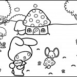 My Melody Perfect Scene Coloring Pages
