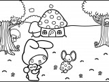My Melody Coloring Pages 01
