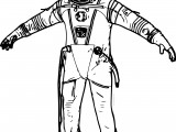 Russian Space Suit Coloring Page