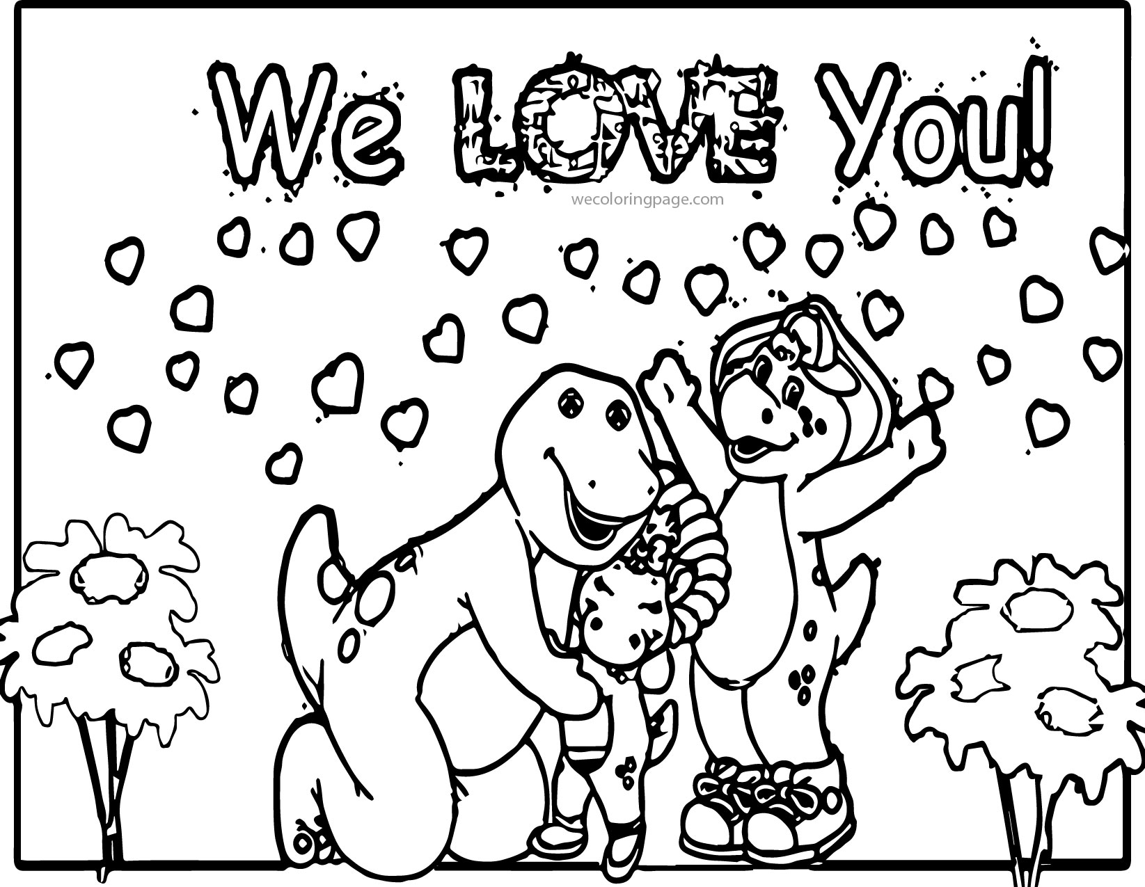 barney friends coloring pages