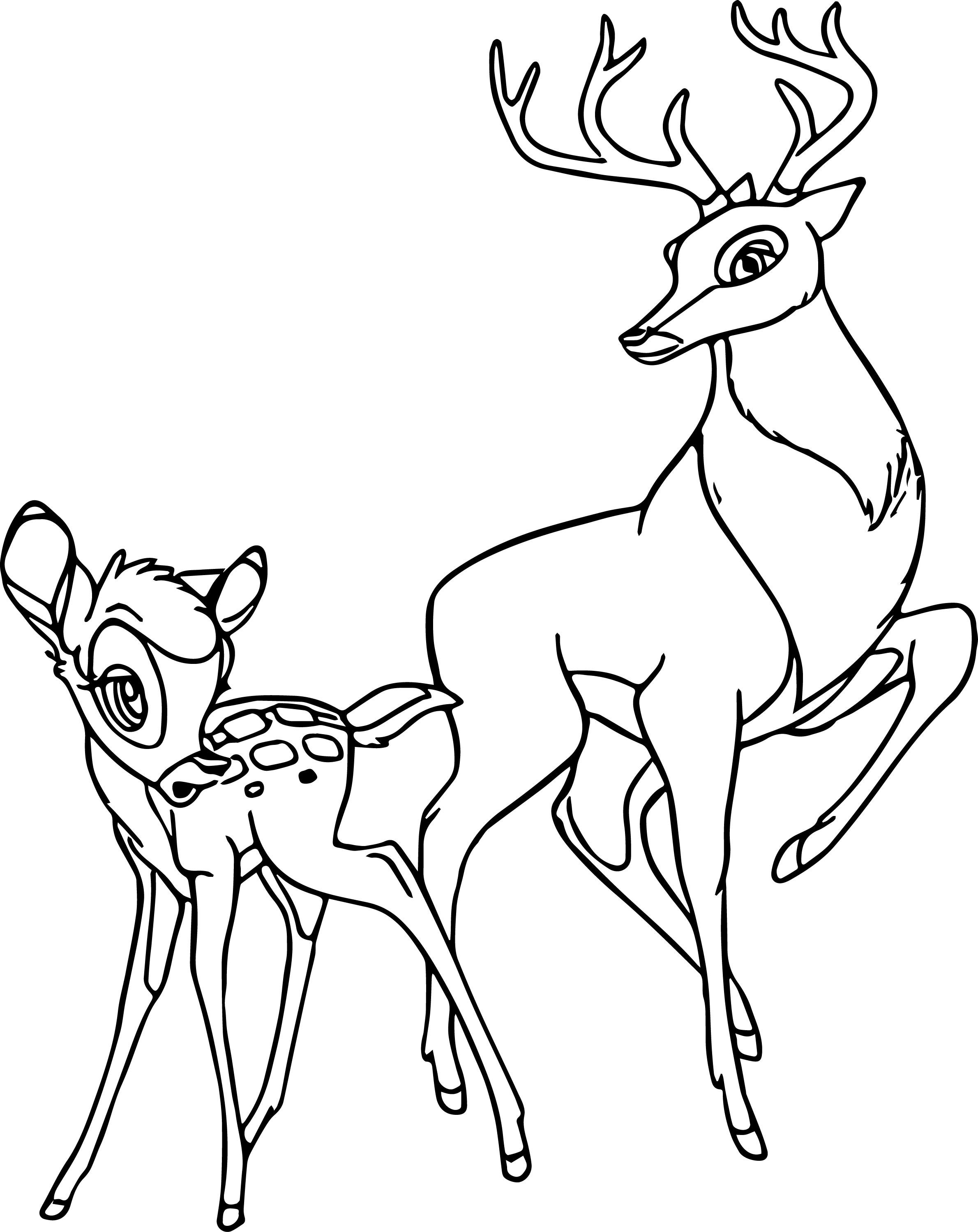 bambi and the great prince of the forest coloring page