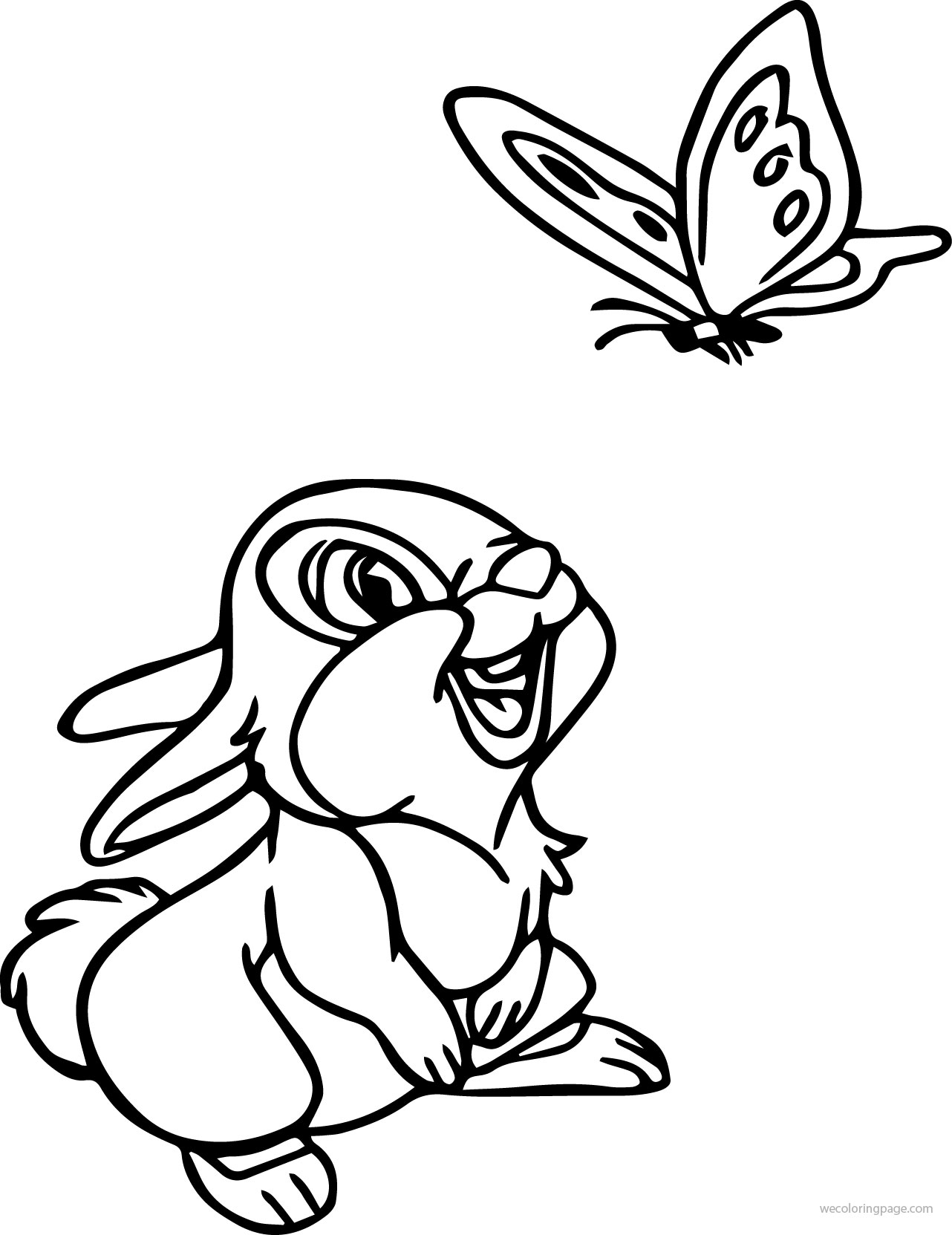Coloring pages bunny - Disney Bambi Thumber Bunny Coloring Pages