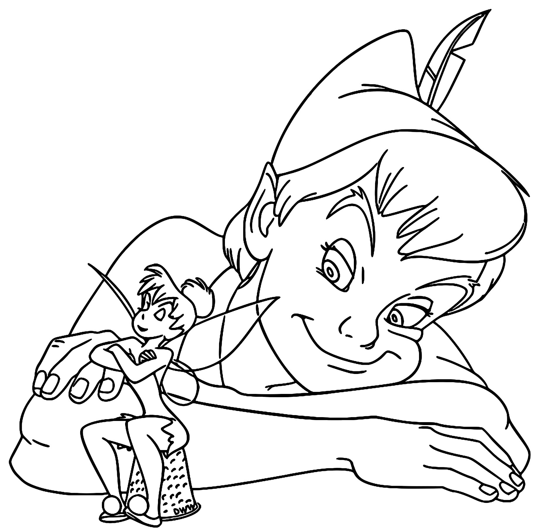Peter Pan & Tinker Bell Coloring Pages