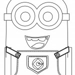 Minion Happy Coloring Pages