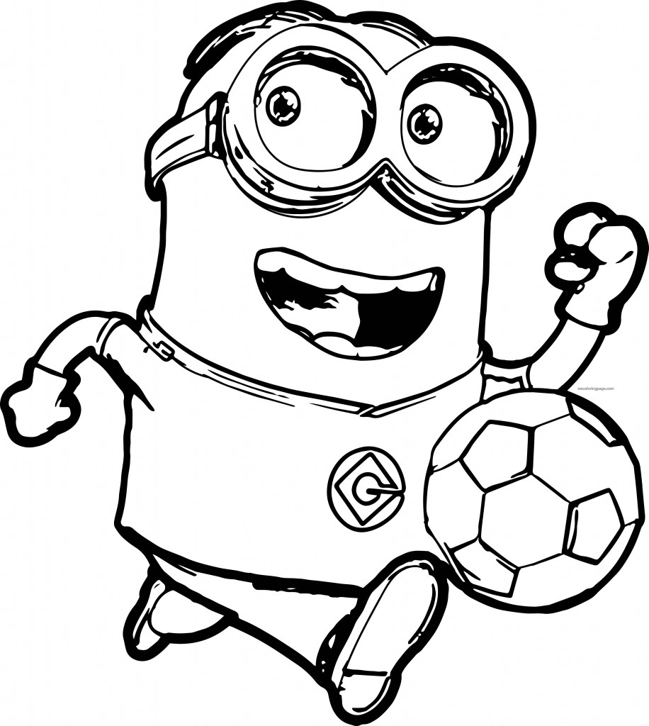 Minion Soccer Player Coloring Pages