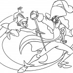 Peter Pan And Captain Hook Coloring Pages