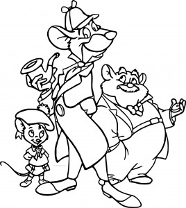 The Great Mouse Detective basil olivia dawson cartoon coloring pages